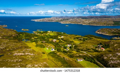 Picturesque Village At The Atlantic Coast In The Highlands Of Scotland