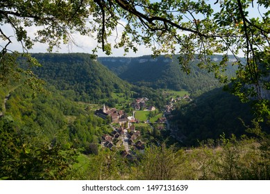 Picturesque village of Baumes les Messieurs in the Jura region in France - Shutterstock ID 1497131639