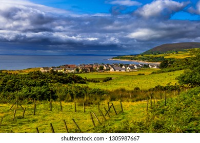 Picturesque Village Of Helmsdale At The Atlantic Coast In Scotland