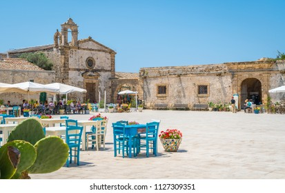 The picturesque village of Marzamemi, in the province of Syracuse, Sicily. July-03-2018