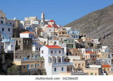 the picturesque village Olympos on the greek island of Karpathos