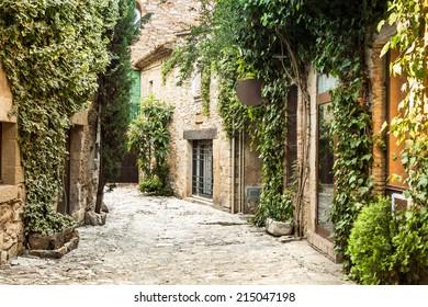 Picturesque village of Peratallada in the heart of Costa Brava.