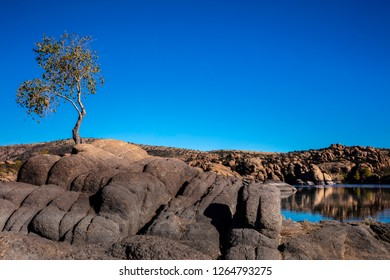 Picturesque Watson Lake in the Granite Dells of Prescott Arizona.