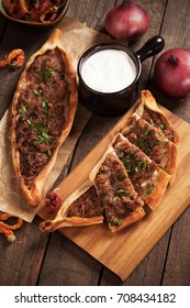 Pide, turkish street food similar to pizza