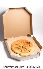 pie in box on white background