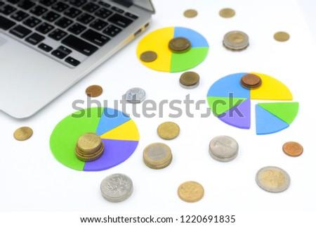 Pie Chart On White Background Money Stock Photo Edit Now