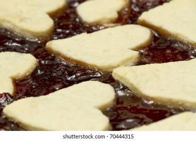 Pie with jam