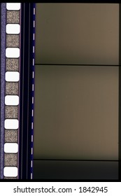 Piece of 35 mm motion or camera film