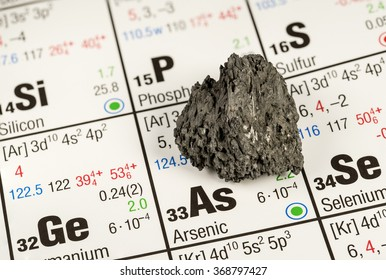 piece of arsenic on periodic table of elements