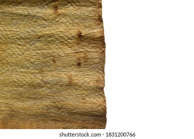 piece of bark and sack clothes as wood craft
