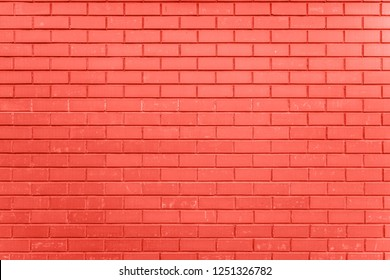 a piece of a brick wall. Color of the year 2019 Living Coral. Livingcoral