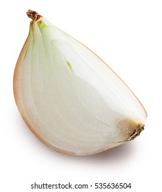 Piece of bulb onion. File contains clipping paths.