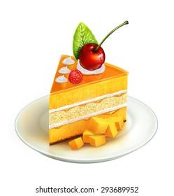 Piece of cake ,illustration