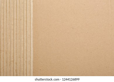 Piece of cardboard as background, top view