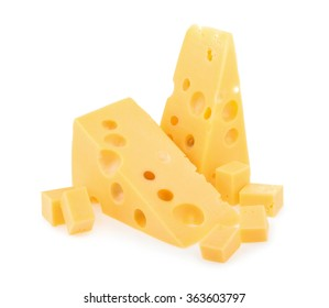 piece of cheese isolated.