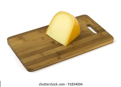 piece of cheese on a plate