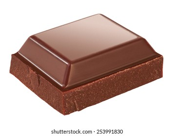 piece of chocolate isolated