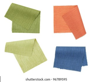 piece of colored fabric isolated on white background