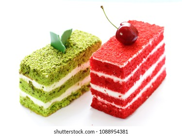 piece of delicious cake with butter cream