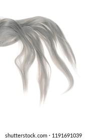 piece of grey weft hair