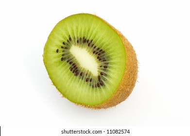 piece of kiwi isolated on white background