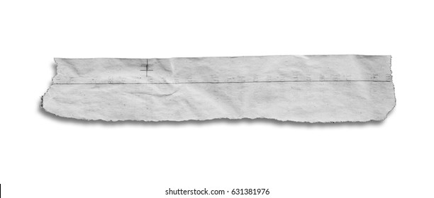 piece of news paper isolated on white background with clipping path.