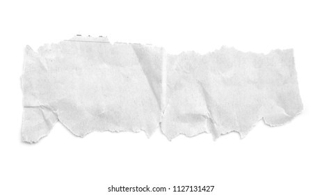 piece of newspaper torn on white backgrounds