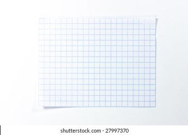 piece of notebook sheet