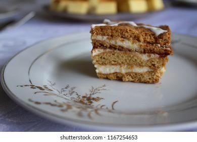 Piece of nutty pie. Delicious dessert