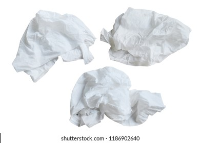 Piece paper napkin ,  isolated on white background with clipping path.