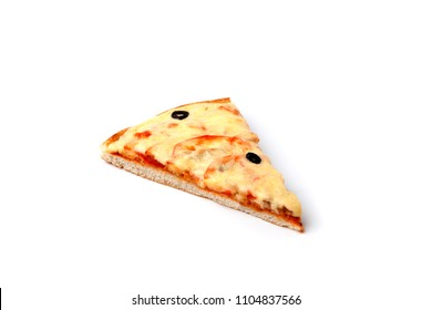 piece of pizza isolated on white background