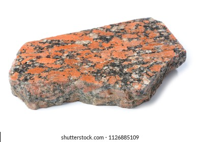 Piece of Polished Granite Isolated on white