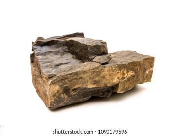 Piece of rock isolated on white background