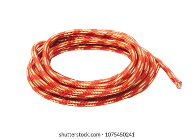 Piece of rope on white background