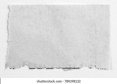Piece of torn blank paper