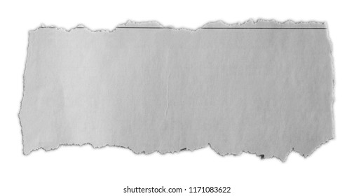 Piece of torn paper isolated on plain background