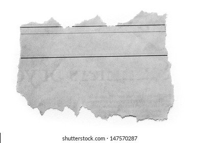 Piece of torn paper on plain background. Copy space