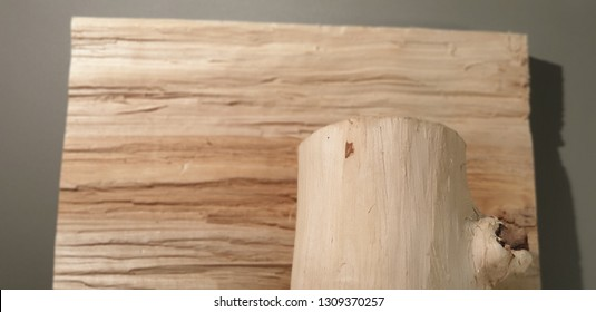 A piece of wood. Wooden board. Wood.wooden billet