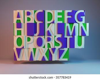 pieced alphabet
