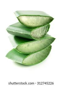 pieces of aloe vera leaf,isolated