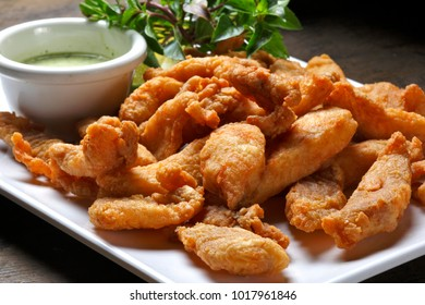 pieces of breaded fish