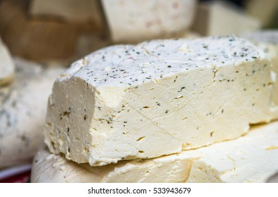 pieces of cheese with spices