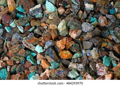 Pieces of colorful ore as background