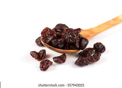 pieces of dried cherry isolated on white background