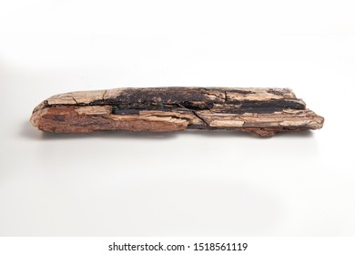 A pieces of drift wood isolated on white