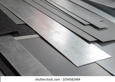 Pieces Galvanized Painted Sheet Metal Background