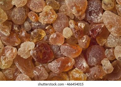 Pieces of Gum arabic full frame
