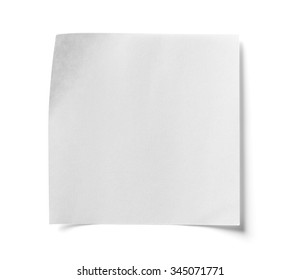 Pieces of paper on white background, isolated
