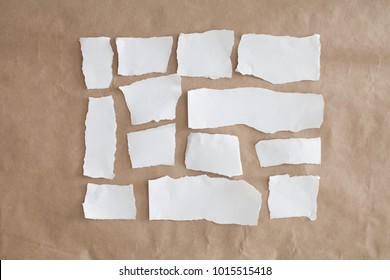 Pieces of ripped white