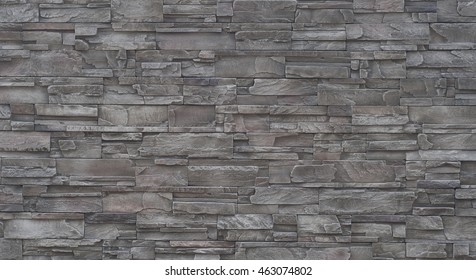 pieces of stone wall, for background or texture , pattern gray of modern style design , real stone wall